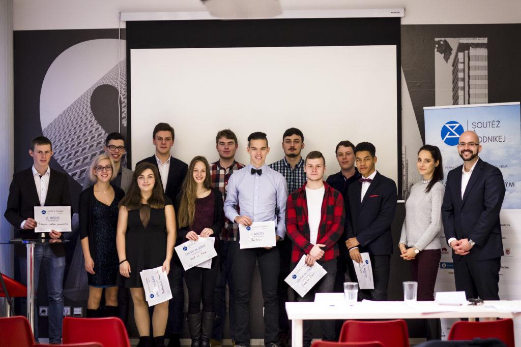 Absolventi Soutěž a Podnikej z druhého regionálního finále v Praze