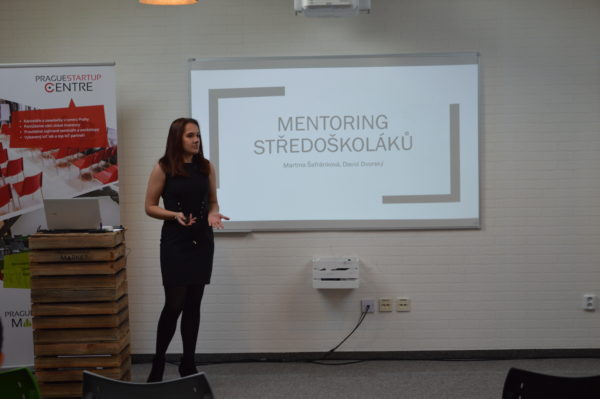 Martina Šafránková během své prezentace v regionálním finále.